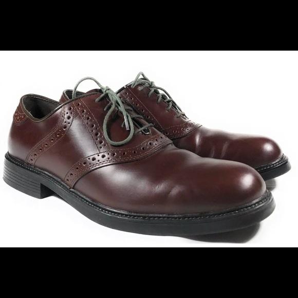 Nunn Bush Men's Brown Leather Oxfords Dress Shoes